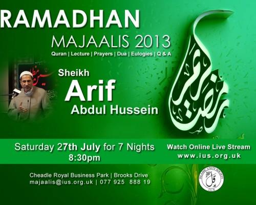 Ramadhan Majaalis 2013