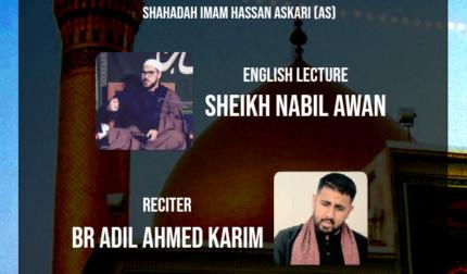 One night majlis for Shahadat Imam Hassan Askari (a.s.)