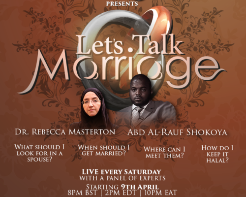 Let's talk marriage