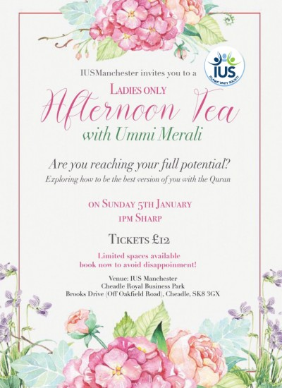IUS Manchester Ladies Afternoon Tea Manchester, Are your reaching your full potential?